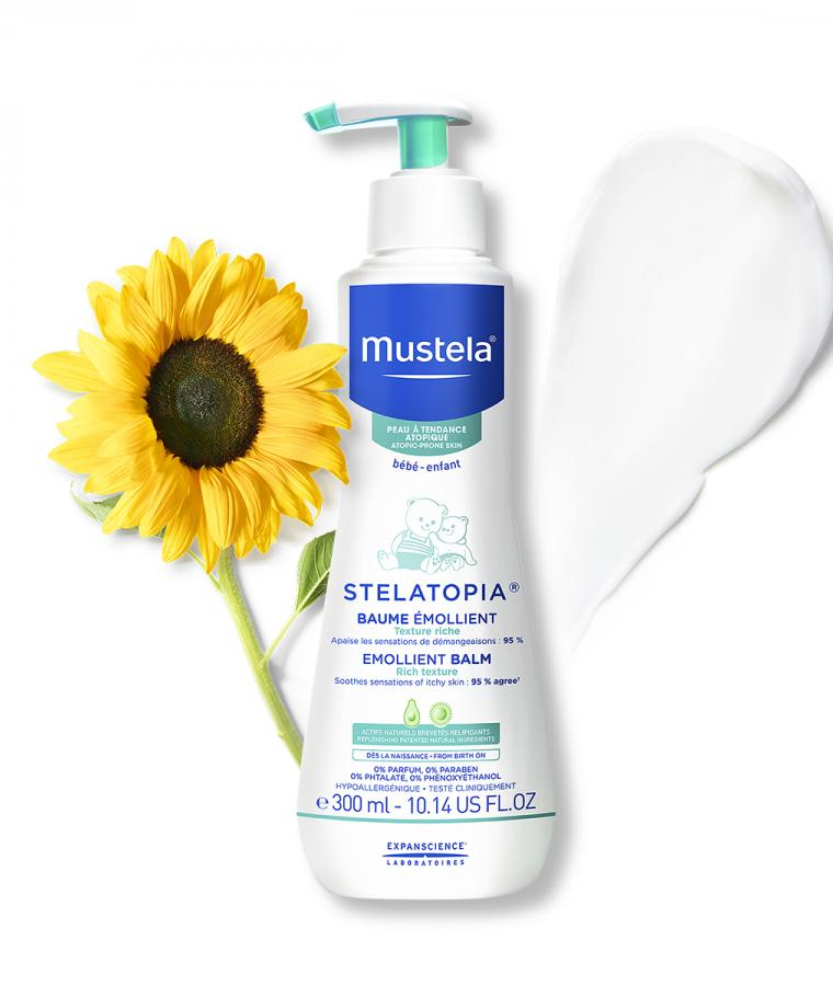 Mustela Stelatopia Emollient balm for babies with atopic-prone skin