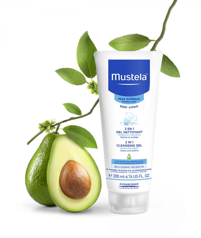 Mustela 2 in 1 cleansing gel for babies with normal skin