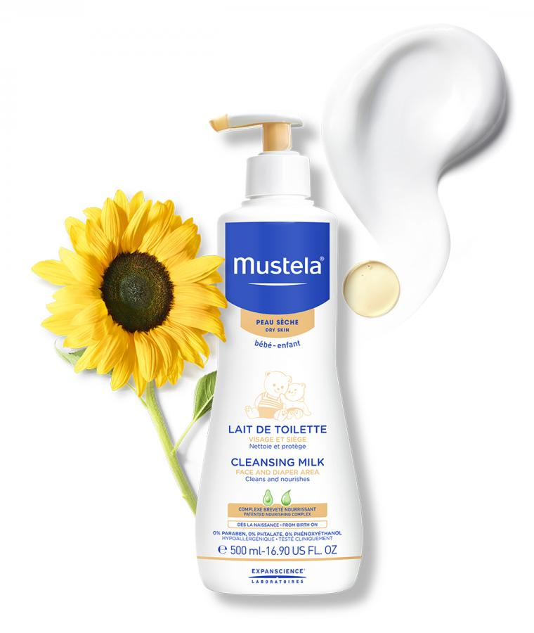 Mustela Cleansing milk for babies with dry skin